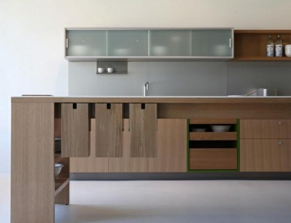 modulküchen designideen küche dunkelholz