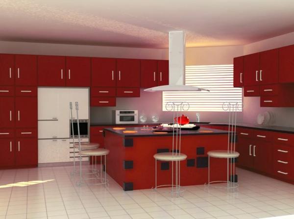 modul küchenmöbel designideen küche rot großer  raum