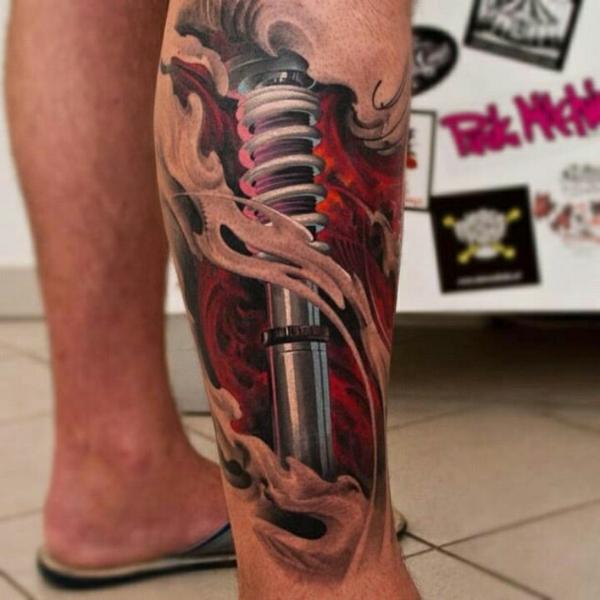 tattoos 3d design am bein