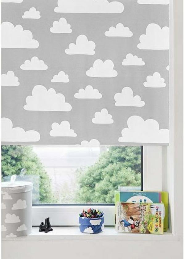 Kinderzimmer Tapete Wolken : Verdunkelungsrollo Kinderzimmer – bunte Muster und Ideen