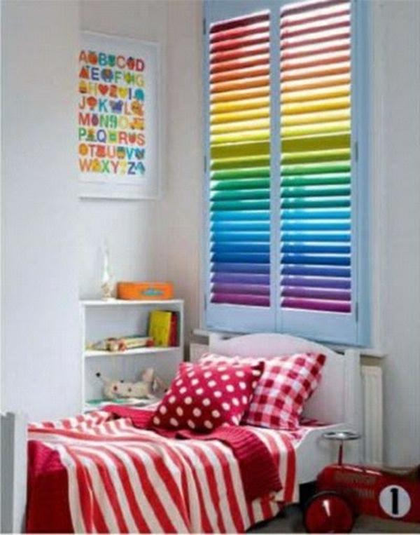 verdunkelungsrollo kinderzimmer regenbogen farben