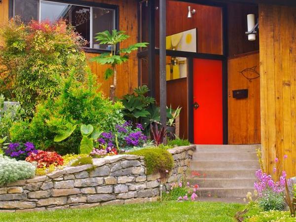 vorgarten garten design annuelle pflanzen