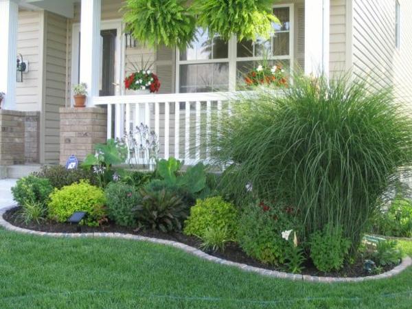 vorgartengestaltung ideen grüne pflanzen landschaft