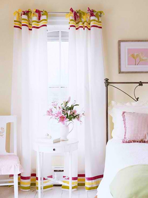 vorhänge nähen gardinen stoffe schlafzimmer ideen