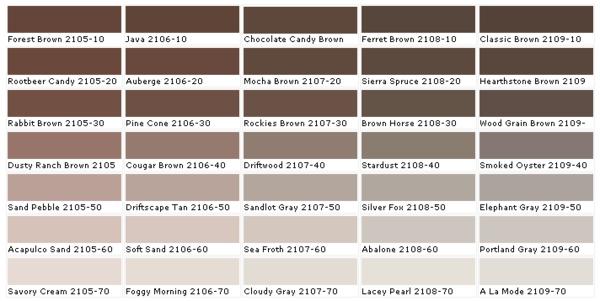 wände streichen farbtafel wandfarbe braun beige farbpalette benjamin ...
