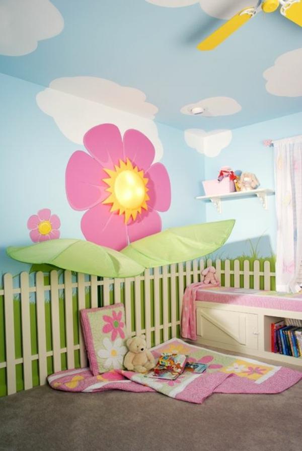 wandbemalung kinderzimmer - tolle interieur ideen - Tolle Kinderzimmer Ideen