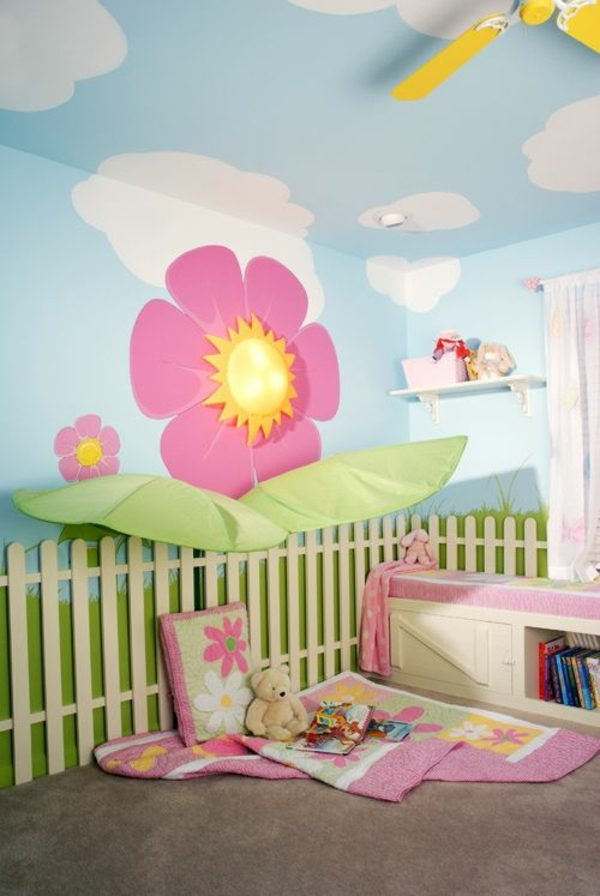 wandbemalung kinderzimmer - tolle interieur ideen, Schlafzimmer design