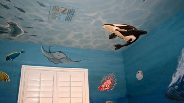 Wandbemalung Kinderzimmer Unter Dem Ozean