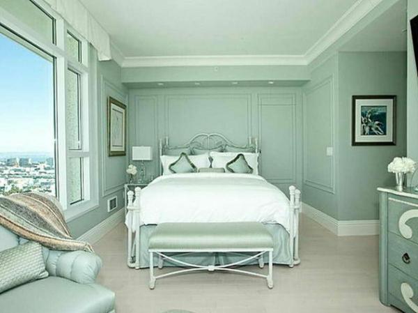 wandfarbe mintgrün schlafzimmer farbideen entspannende farbpalette