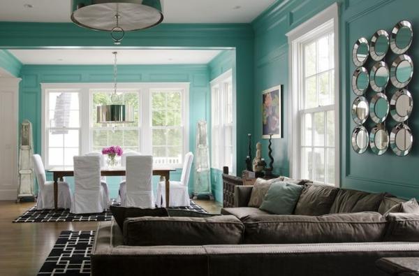 Wandfarbe Mintgrn Wohnzimmer Wnde Streichen Esszimmer