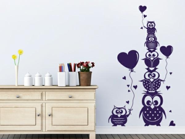 Kinderzimmer wandtattoos ideen und tolle beispiele - Eulen gestalten ...