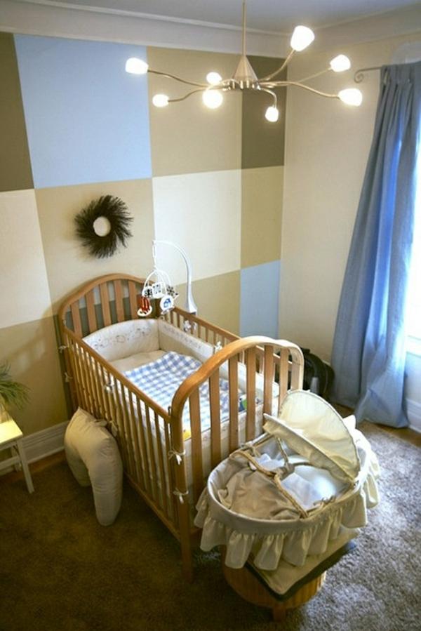 Wandgestaltung Kinderzimmer Kronleuchter Babybett Wandbemalung Kinderzimmer  U2013 Tolle Interieur Ideen ...