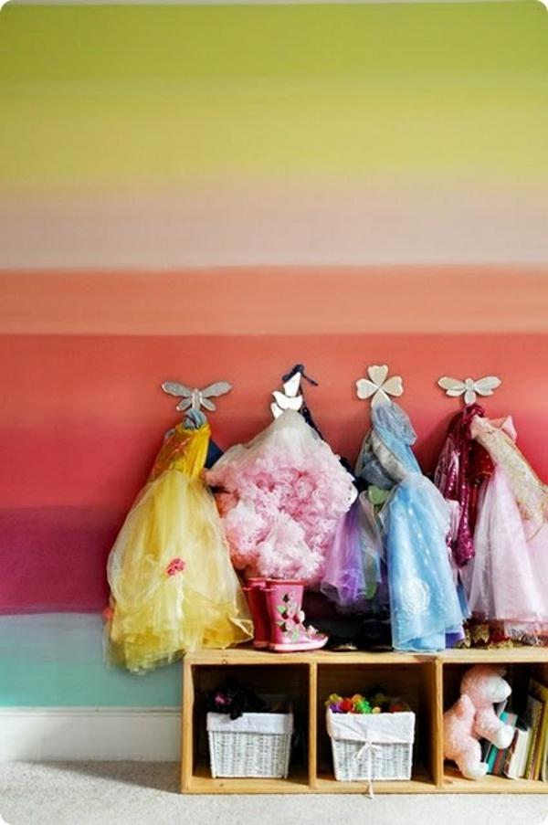 wandgestaltung kinderzimmer regenbogen wandbemalung