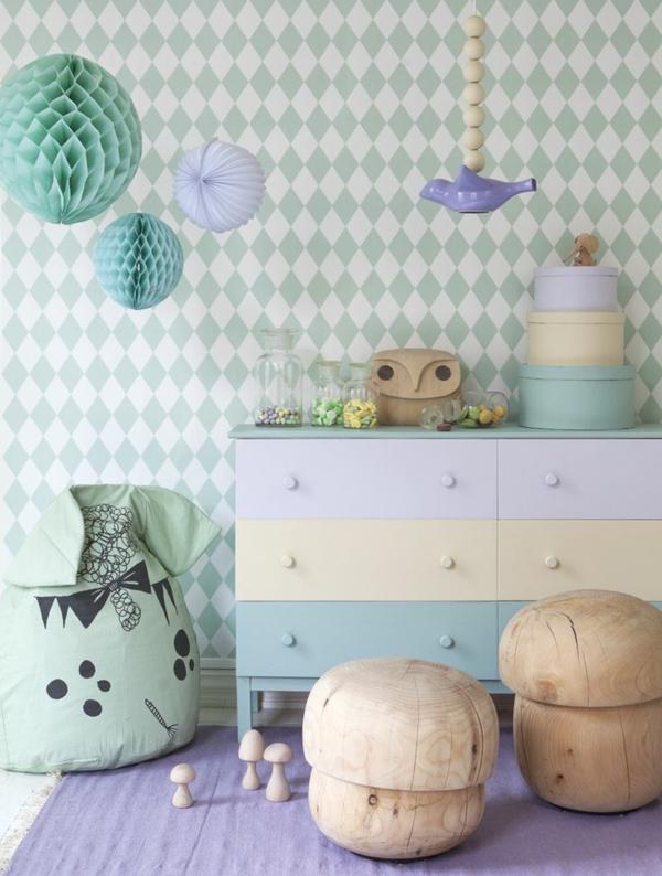 kinderzimmer tapeten - farbige ideen für ihr interieur - Kinderzimmer Wandgestaltung Ideen Farbe Tapete