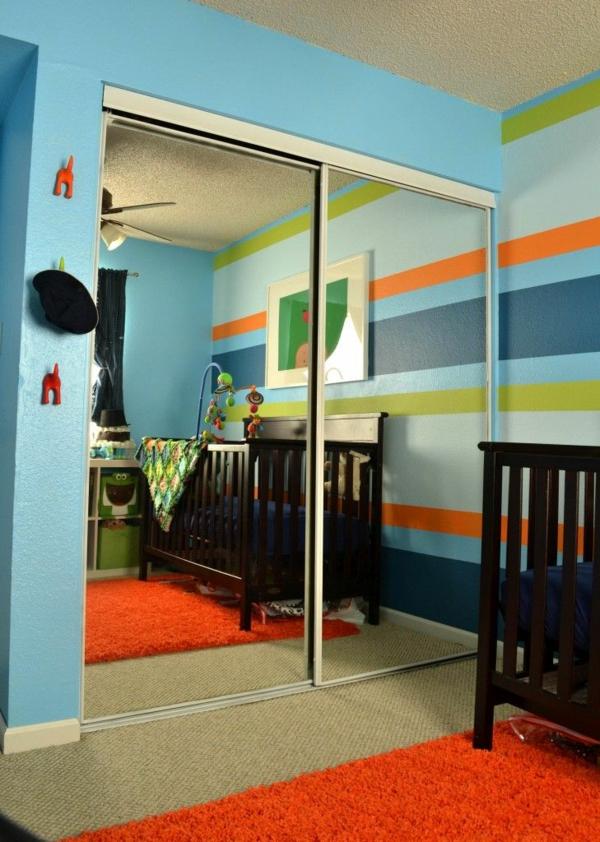 kinderzimmer blau gestreift bibkunstschuur. Black Bedroom Furniture Sets. Home Design Ideas