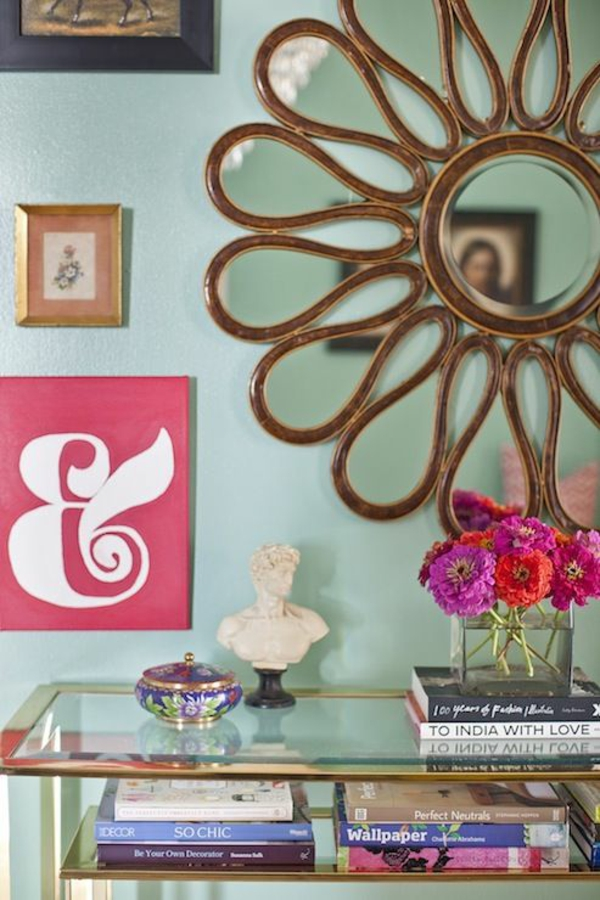 wandgestaltung mintgrün wandfarbe wohnzimmer farben