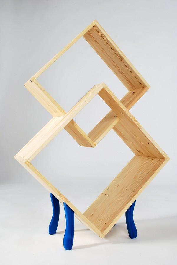 wandregale-ideen-designs-farben-bücher-rauten
