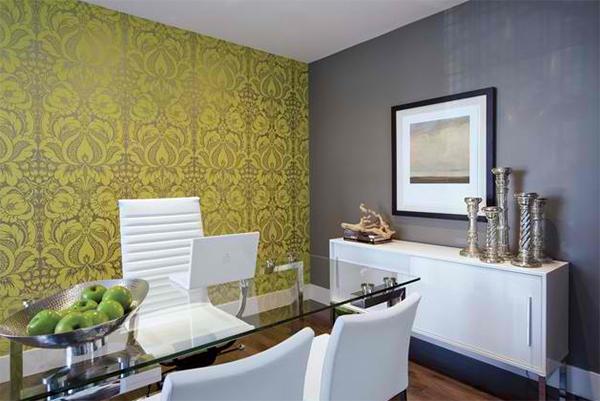 wandtapeten muster betonoptik florale muster moderne büromöbel