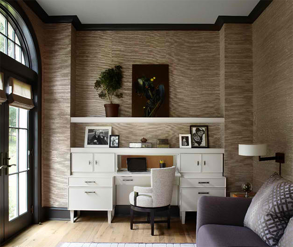 Stunning Wallpapers In 20 Home Office And Study Spaces Interior ... Home Office Ideen