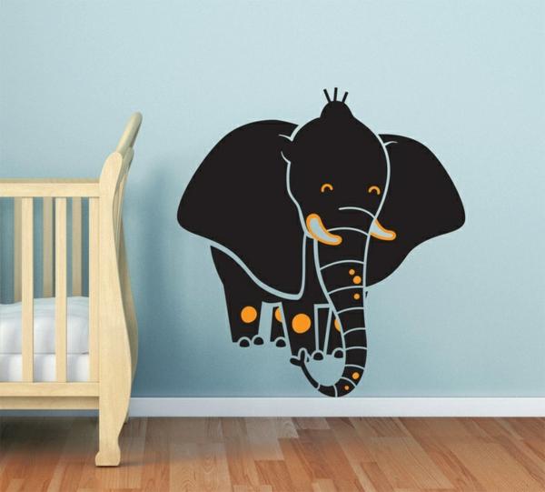 wandtattoo kinderzimmer kreative wandgestaltung selbstklebende wandsticker elefant