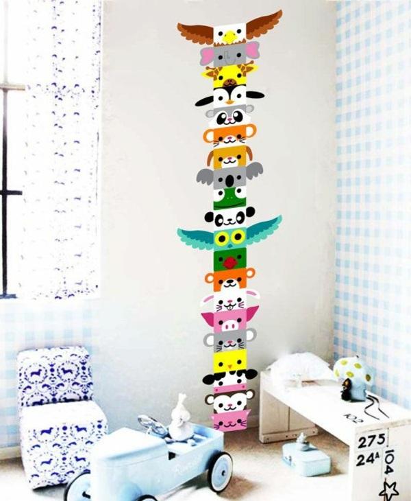 wandtattoo kinderzimmer kreative wandgestaltung wandaufkleber selbstklebend