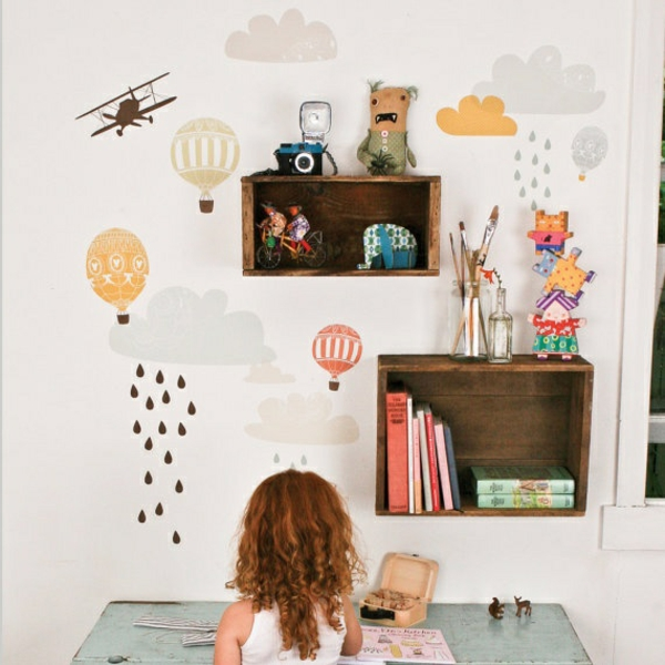 wandtattoo kinderzimmer kreative wandgestaltung wandaufkleber