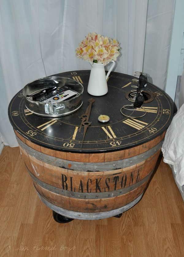 Weinfass Stehtisch und viele andere DIY Möbel aus Holzfass ...