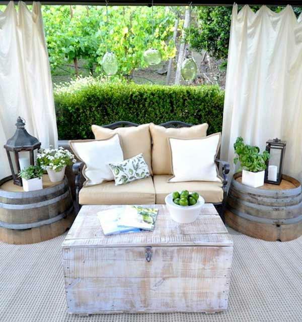 weinfass stehtisch und viele andere diy m bel aus holzfass gebastelt. Black Bedroom Furniture Sets. Home Design Ideas