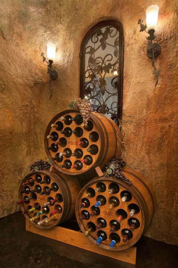 Weinkeller bauen selber machen  Weinfass Stehtisch und viele andere DIY Möbel aus Holzfass gebastelt