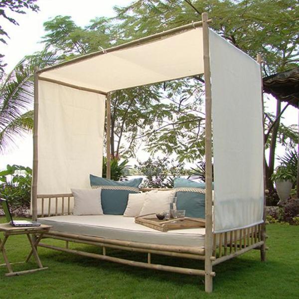 bambus deko möbel  loungebett outdoor möbel
