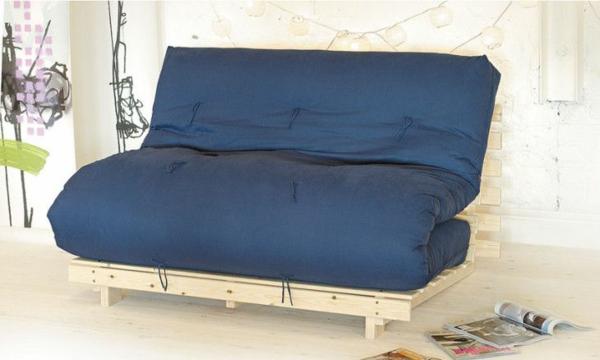 bettsessel schlafsessel bett paletten blau