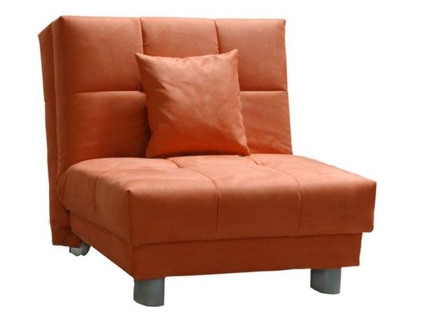 schlafsessel stilvoll in orange