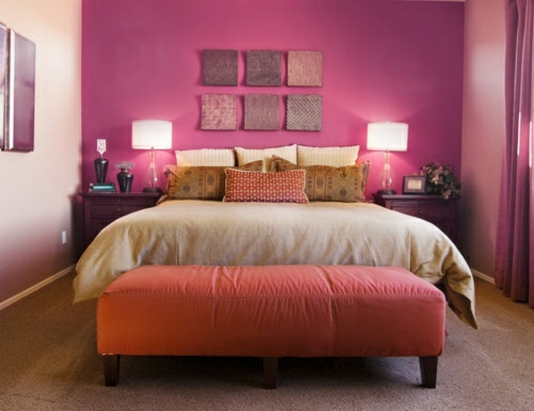 Great Farbideen Schlafzimmer Rosa Wandgestaltung Bettbank Bett Good Looking