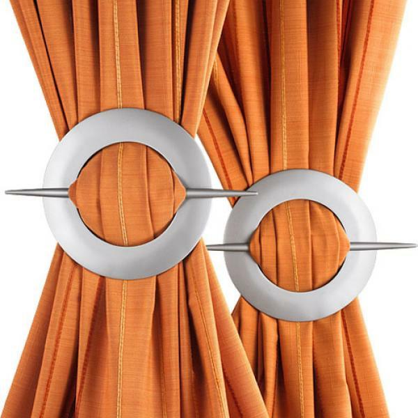 gardinen dekorationsvorschläge orange vorhänge raffhalter