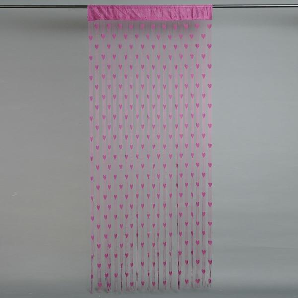 gardinen dekorationsvorschläge vorhänge rosa herzen