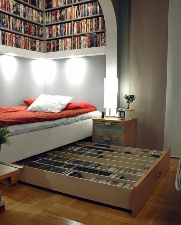 jugendzimmer gestalten bücher bett lagerraum