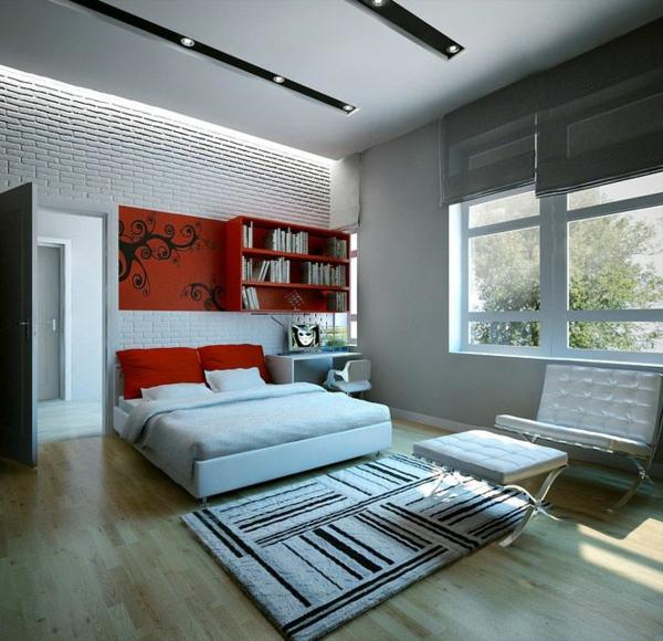 jugendzimmergestaltung groß bett teppich