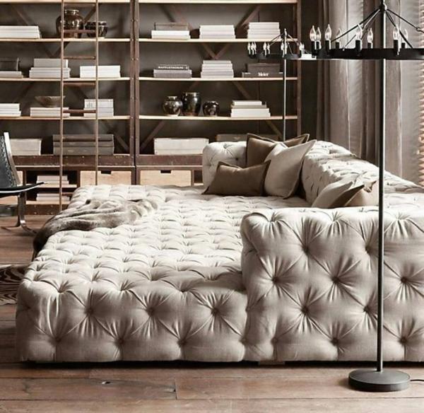 wohnideen modern schlafsessel beige