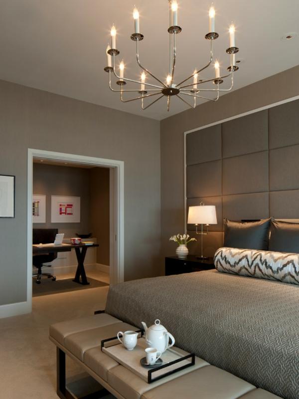 Schlafzimmer Einrichten Modern Kronleuchter Bett Bettbank