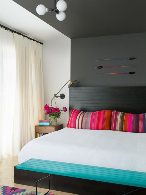 schlafzimmer ideen modern farbig dekoideen