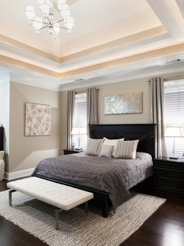 schlafzimmer ideen zeitgenössisch dekorative decke
