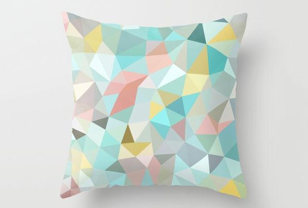sofakissen geometrische muster farbige dekoration