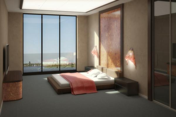 Schlafzimmer Fenster | Badezimmer & Wohnzimmer Wohnzimmer Grose Fensterfront