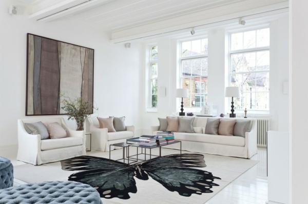 wohnzimmer einrichten groß fenster reinigen teppiche