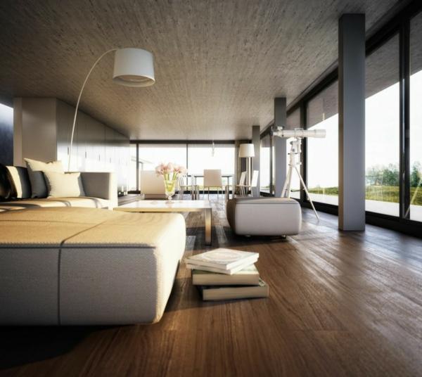 wohnzimmer  luxus einrichten groß fenster umweltfreundlich