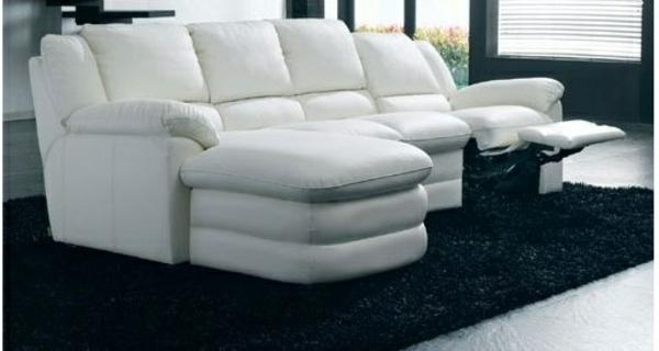 einrichten möbel scheselong sofa leder weiß
