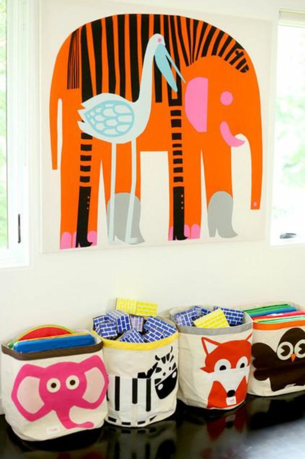 farbideen kinderzimmer gestalten wandtattoo elefant