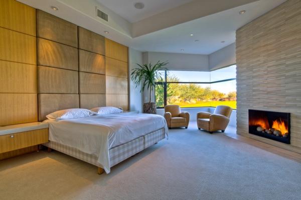 zimmerpflanzen blumentöpfe schlafzimmer wohnzimmer holz wand