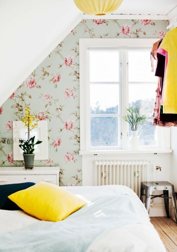 zimmerpflanzen blumentöpfe schlafzimmer wohnzimmer tapeten