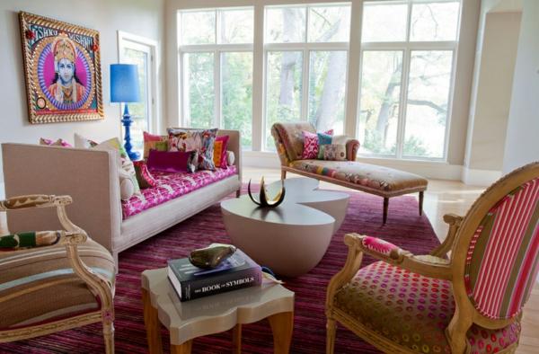 einrichtungsideen indischen stil rosa inspiration